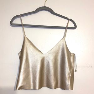 Rose Gold — ZARA Crop Tank Top